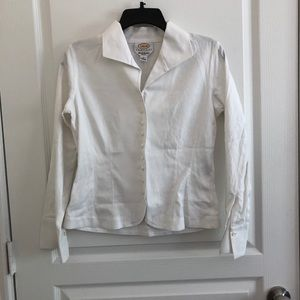 White Button up Blouse - Talbots